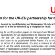 UKTiE Parliamentary Roundtable on Brexit and transport – Programme The Framework for the UK-EU partnership for transport Roundtable discussion hosted […]