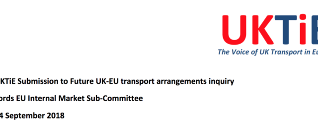 UK Transport in Europe (UKTiE) Submission to House of Lords Committee Brexit Inquiry 14 September 2018 Introduction 1. UK Transport […]